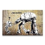 Banksy Kunstdruck auf Leinwand