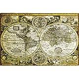 1art1 61804 - Póster de mapamundi antiguo (91 x 61 cm)
