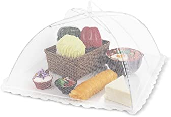 Honesty Store Foldable Mesh Screen Food Umbrella Cover (Assorted Colour, HSMAY06-P)