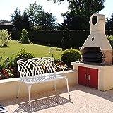 Lazy Susan - April Gartenbank aus Aluminium, Weiß