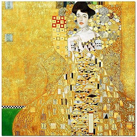 Gustav Klimt - Adele Bloch Bauer I - 90x90 - pintura al óleo Lienzo tensado sobre bastidor