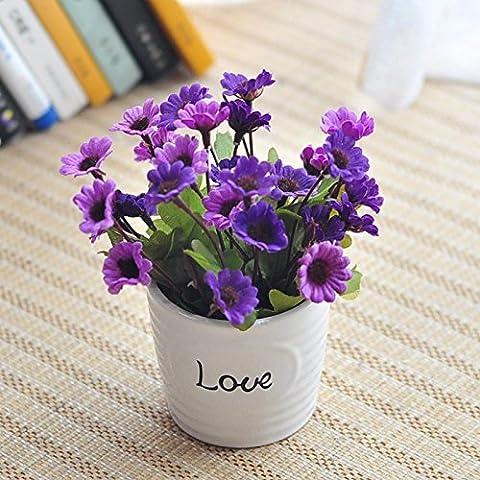 Fleurs artificielles fleur rose d'émulation artificielle Kit Vasesj Floral Fleurs
