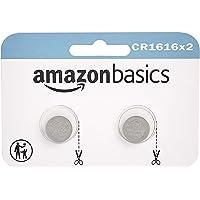 Amazon Basics – CR1616 Lithium-Knopfzelle, 2er-Packung