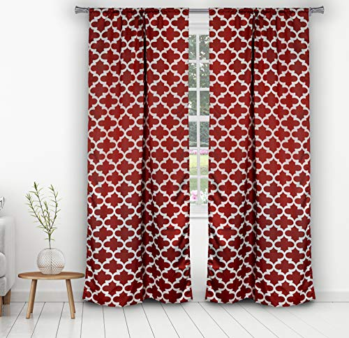 Unbekannt Blackout365 L'Kyra Blackout Window Curtain, 38 x 84 Inches, Ruby Red