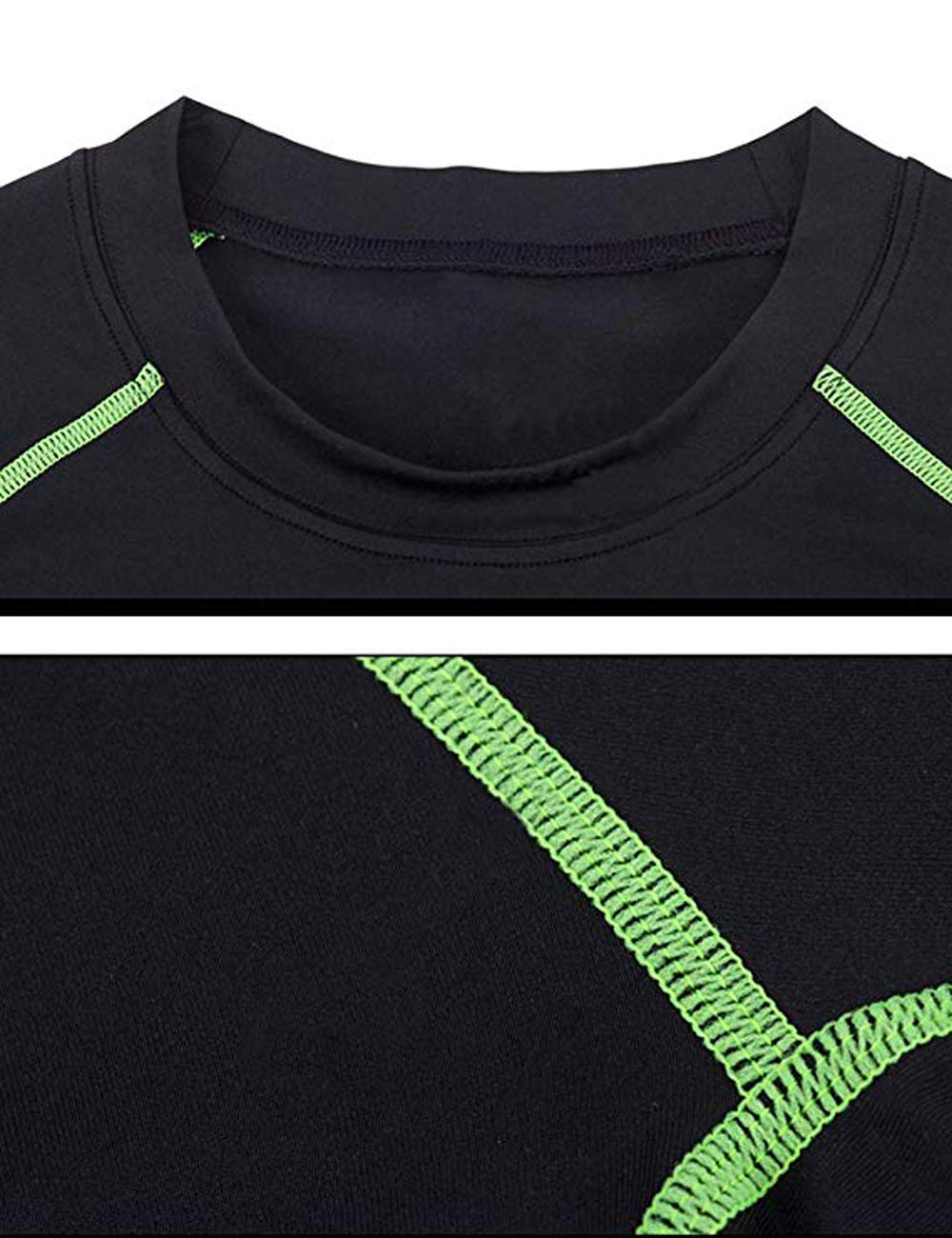 BUYKUD Kids' Boys Long Sleeve Base Layer Compression Underwear Athletic Shirt Tights Top & Bottom Set 4
