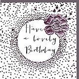 Belly Button Designs Paloma. eine hochwertige und originelle Geburtstagskarte, Glückwunschkarte oder Einladungskarte, auch Geschenkgutschein oder Geldgeschenk mit Folienprägung und Kristallen BB334