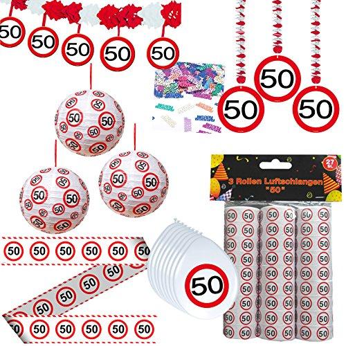 Unbekannt 44 TLG. Set Partyset zum 50sten 50. Geburtstag Dekopaket Partypaket Dekoration