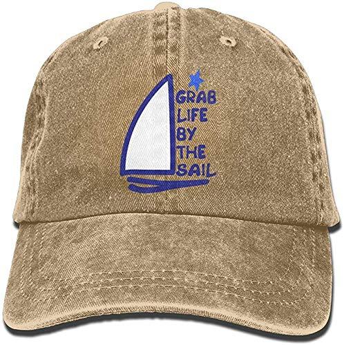 ingshihuainingxiancijies Zupacken-Leben durch das Segel Denimhutes Adjustable Womens Casual Baseball Caps
