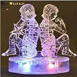 3D Crystal Puzzle 12 montierte Konstellationen basteln puzzle Spielzeug-LED-Lampe (Gemini)