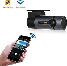 AUTO-VOX D6 Pro Auto Kamera, WiFi DashCam FHD 1080P DVR Rekorder,Unauffällige Dash Cam,300°Bewegliches Objektiv Nachtsicht, G-Sensor, WDR, Loop-Aufnahme, Parkmonitor …