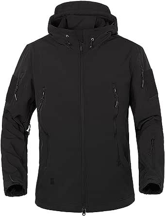 Mens Waterproof Soft Shell Jacket Tactical Hoodie Winter Warm Military Coats UK