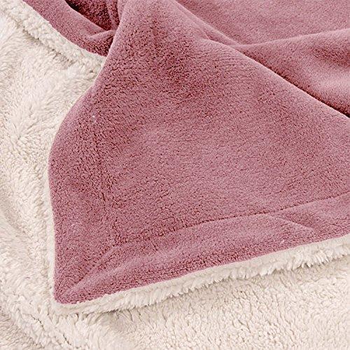 Couverture polaire en microfibre - Vieux rose - 150 x 200 cm