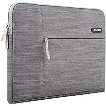 MOSISO manicotto del computer portatile, copertura del sacchetto in tessuto denim Custodia per 11-11,6 pollici Laptop / Notebook / Computer Portatile / MacBook Air, Grigio