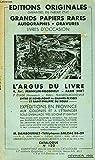 Telecharger Livres CATALOGUE N 120 FEVRIER 1951 EDITIONS ORIGINALES GRANDS PAPIERS RARES AUTOGRAPHES GRAVURES LIVRES D OCCASION (PDF,EPUB,MOBI) gratuits en Francaise