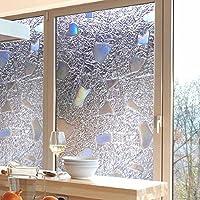 Bruselas08 - Adhesivo 3D para ventana, antiUV, cristal esmerilado, pegatina para ventana, adhesivo estático, privacidad, película de tinta, decoración del hogar, pvc, 1#, Medium