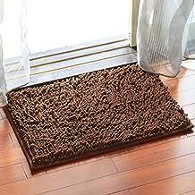 Deylaying Rechteck Teppiche Wohnzimmer Matte Schlafzimmer Bad Volltonfarbe Rutschfest Fußmatte für Zuhause 50x80cm