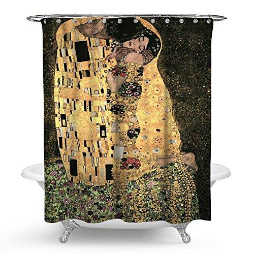Kisy Gustav Klimt The kiss impermeabile bagno tenda doccia Art romantico pittura famosa doccia tenda misura standard 177,8x 177,8cm