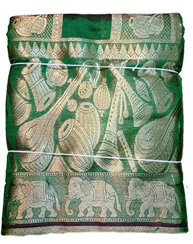 Banarasi Kora Silk Saree with Rich Musical Instruments Butta All Over and...