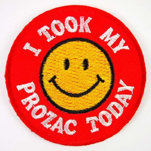 smiley-happy-smile-face-i-took-my-prozac-today-jacket-embroidered-iron-on-patches-with-free-gift-by-