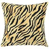 ZHOUBA Animal Zebra Leopard Print Quadratische Kissenbezug/Sofa, Home Office Linen Kissenhülle, Plüsch, C, Einheitsgröße