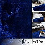Moderner Teppich Delight blau 120x170cm - edler Designer Teppich mit flauschig weichem Flor