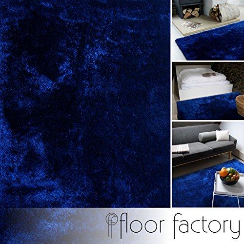 Alfombra moderna Delight azul marino 140x200cm - alfombra noble suave y sedosa