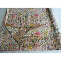 Tribal Asian Textiles 19 - Copriletto etnico con motivo cachemire,