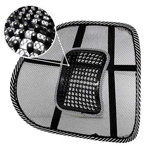 ODN Auto Sitz Bürostuhl Rücken Kissen Rücken Lendenwirbel Massage schwarz Mesh lüften Kissen Pad Schmerzlinderung Sitzhaltung Corrector