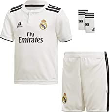 Adidas Kit - Personalisierbar - Real Madrid Kinder Heimtrikot und Short Satz. Offizielles Produkt 20 Personalizador