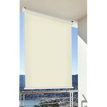 balkon sichtschutz balkon markise balkon windschutz rollo creme vertikal polyester. Black Bedroom Furniture Sets. Home Design Ideas