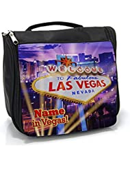 307419a12061 Personalised Wash Bag Las Vegas Stag Night Party St196 Hanging Toiletry Bag