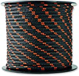 Chapuis MO325N Driza de poliéster - 200 kg - Diámetro 3 mm - Largo 25 m - Negro/naranja