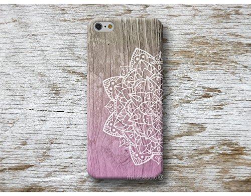 Rose Mandala Holz Print Handy Hülle Handyhülle für Samsung Galaxy S10 5G S10e S9 S8 Plus S7 S6 Edge S5 S4 mini J7 J6 J5 J3 A8 A7 A6 A5 A3 Note 9 8 5 4 A40 A50 A60 A70 A80 Case Cover ... -
