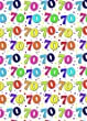2 Sheets Special Age 70 Wrapping Paper & 1 Matching Gift Tag - 70th Birthday