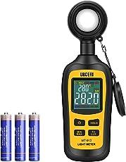 URCERI Digital Luxmeter Tragbare Photometer Belichtungsmesser Beleuchtungsstärke Lichtmesser mit Bereich bis zu 200.000 Lux und LCD Display