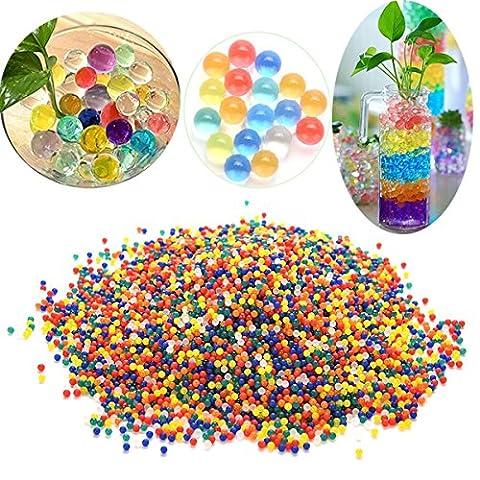 JRing Perles d'eau, 6000 Morceaux de Perles de gel d'eau Jelly Water Pdiearl for Vase Filler Aqua Plant Wedng Decoration