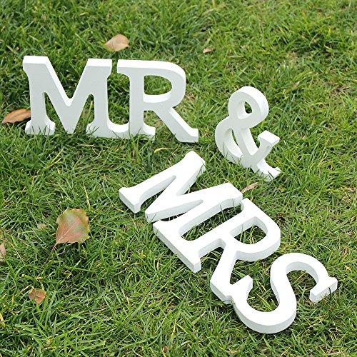 Herr und Frau Holz Buchstaben Hochzeit Dekoration/Geschenk