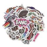 #4: MagiDeal 100 Pieces Random Cartoon Stickers Car Skateboard Fridge Laptop Suitcase Skateboard Decal Stickers
