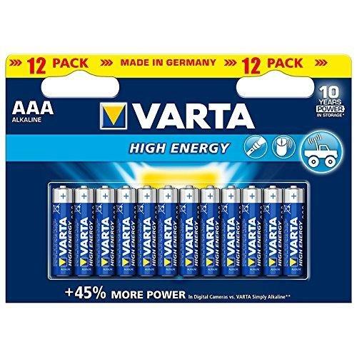 Varta Batterie Alkali Micro (AAA) - High Energy (power (Varta Aaa)