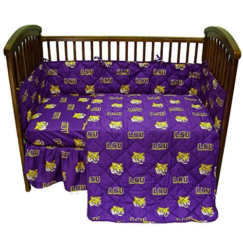 College Covers Louisiana State Tigers Baby Crib Fitted Pair of Solid Sheet by College Covers State Tigers