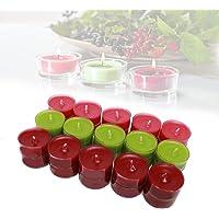 Smart-Planet® Lot de 30 bougies chauffe-plat d'ambiance - Parfum fruits des bois- Couvercle transparent - 4 heures de…