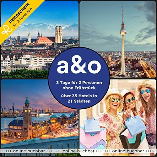 Reiseschein Hotelgutschein 3 Tage für 2 in 1 von 32 a&o Hotels in 19 Städten Gutschein Kurzreise