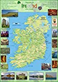 Karte Poster von Irland–Papier laminiert a1 farblos