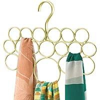 mDesign porte écharpes – cintre foulard – rangement foulard pratique pour serviettes, cravates, ceintures – 18 anneaux…