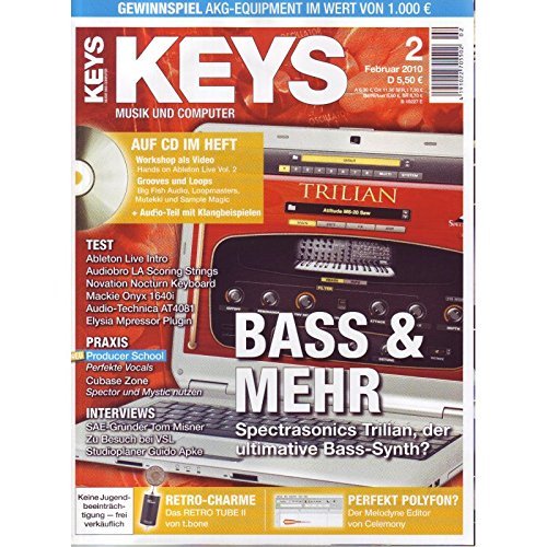 Keys 2 2010 mit CD - Bass und mehr - Ableton Live Video Workshop auf CD - Personal Samples - Free Loops - Audiobeispiele