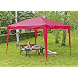 Wolder Brico BCP330007 - Carpa plegable, 300 x 300 x 250 cm, color rojo