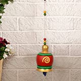 #1: ExclusiveLane Terracotta Handpainted Decorative Bell Hanging -Wind Chimes Hanging Decorative Item