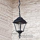 Edle Hängeleuchte Deckenlampe in antik-silber Hoflampe Außenleuchte Gartenleuchte 8399 IP43