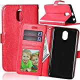 Crazy Horse 3 Card Slots Wallet Leather Phone Tasche