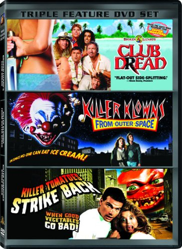 Dying of Laughter Triple Feature (Club Dread / Killer Klowns From Outer Space / Killer Tomatoes Strike Back) (Klowns From Killer Space Outer)